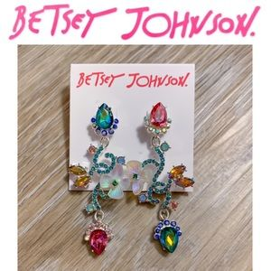 Betsey Johnson Flower Dangle Earrings